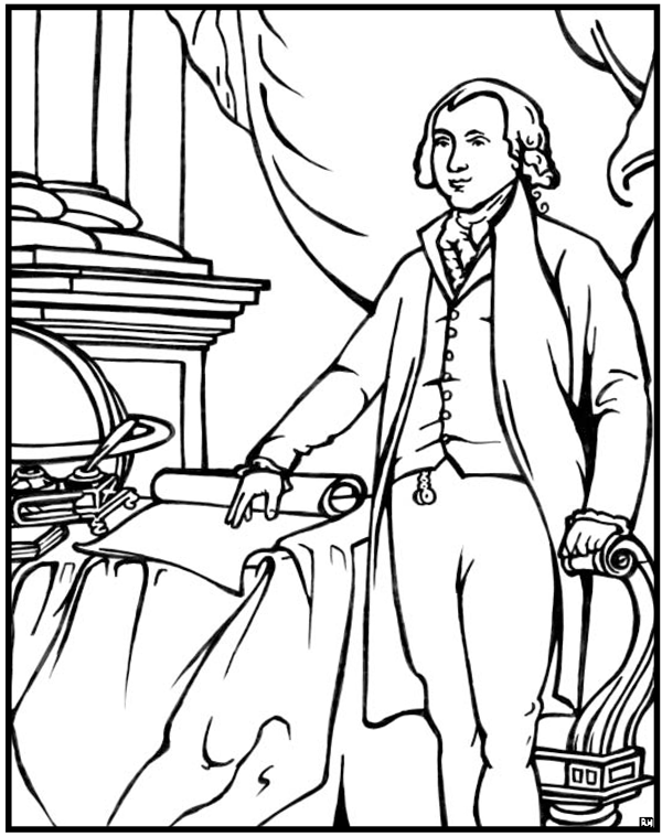 James Madison Coloring Page | Purple Kitty