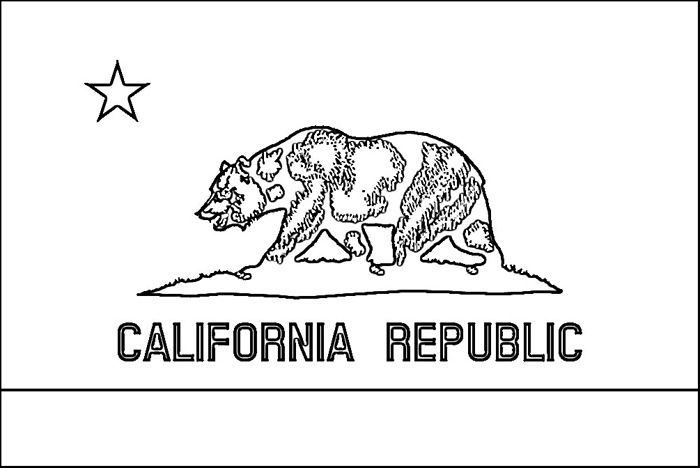 California Flag Coloring Page | Purple Kitty