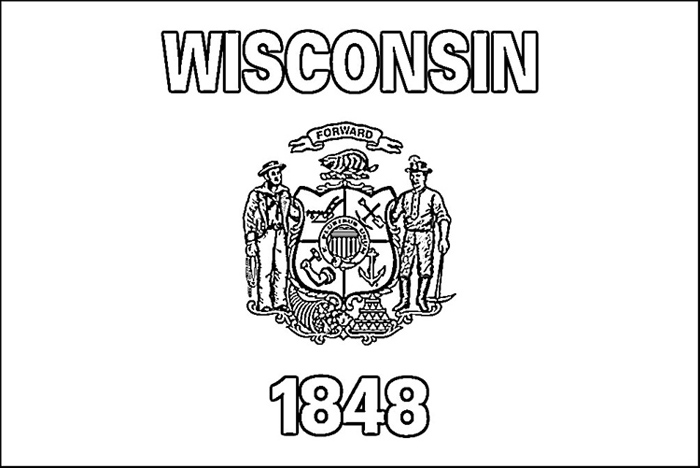 Wisconsin symbols coloring pages coloring pages for Minnesota state flag coloring page