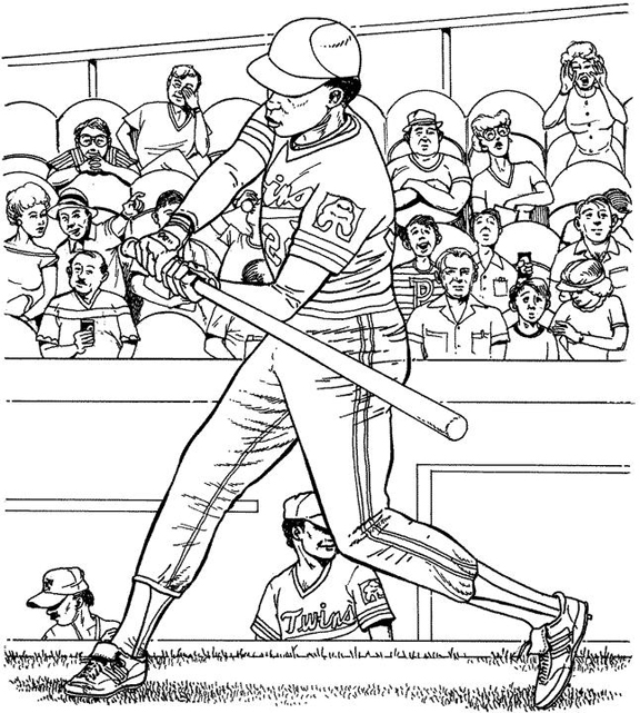 Minnesota Twins Batter Baseball Coloring Page | Purple Kitty