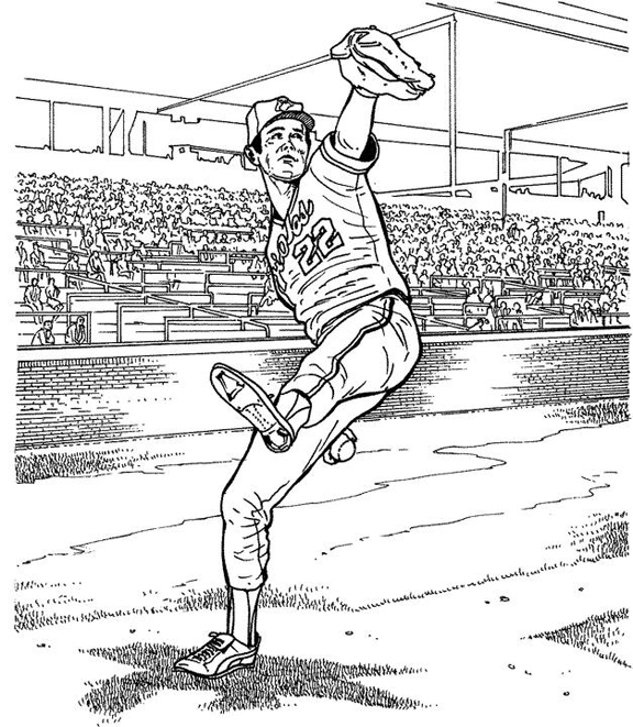 Baltimore Orioles Player Baseball Coloring Page | Purple Kitty