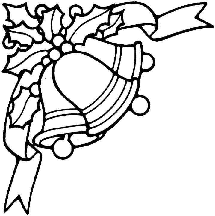 Christmas Bells Coloring Pages 1 | Purple Kitty