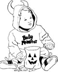 baby monster coloring page