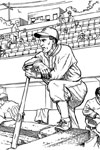 Dug Out baseball coloring page