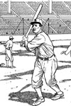 Warming Up baseball coloring page