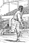 Pitcher on the Mound baseball coloring page