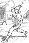 St Louis Cardinals Pitcher baseball coloring page