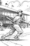 Red Sox Batter baseball coloring page