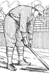 New York Yankee Player baseball coloring page