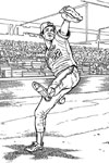 Baltimore Orioles Player baseball coloring page