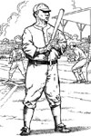 Batter on Deck baseball coloring page