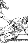 Los Angeles Dodger Sliding baseball coloring page