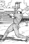 Home Run baseball coloring page