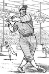 Batter Swings baseball coloring page
