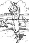 New York Mets Pitcher baseball coloring page