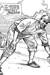 Pittsburgh Pirate Fielder baseball coloring page