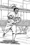 Los Angeles Dodgers Catcher baseball coloring page