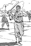 Batter Warming Up baseball coloring page