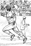 Running to First baseball coloring page