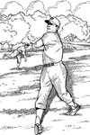 Batting Practice baseball coloring page