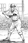 Batting for a Home Run baseball coloring page