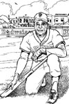 San Francisco Giants baseball coloring page