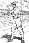 Baseball Player baseball coloring page