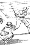 Batter Up baseball coloring page