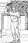 Pittsburgh Pirates Player baseball coloring page