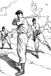 Ball Players Practicing baseball coloring page