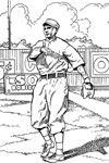 Red Sox Outfielder baseball coloring page