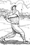 Boston Red Sox Batter baseball coloring page