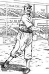 Ball Player baseball coloring page