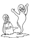 boo! ghosts coloring page