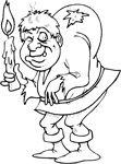 hunchback coloring page