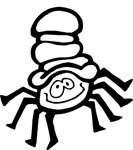 itsy bitsy halloween spider coloring page