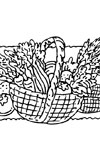 thanksgiving basket coloring page