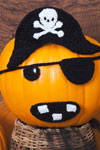 jolly roger pirate pumpkin