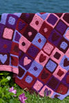 happy hearts afghan
