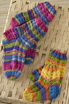 colorful knit kids socks
