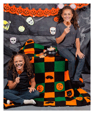 crochet halloween throw