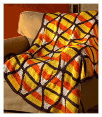 Candy Corn Throw