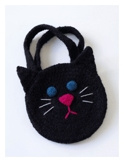 black cat halloween bag pattern