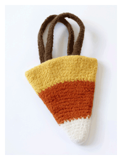 candy corn halloween bag pattern