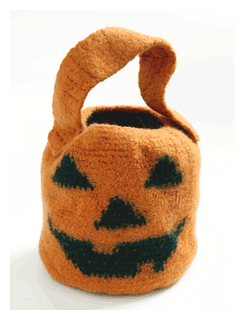 pumpkin candy halloween bag pattern