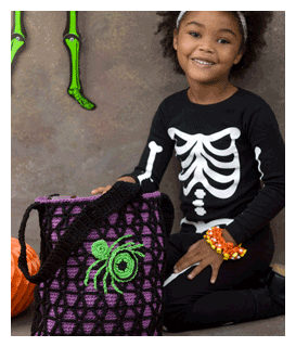 spider webby halloween bag pattern