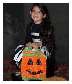 pumpkin face halloween bag pattern