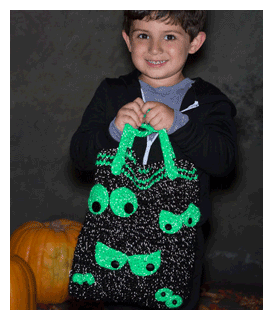 creepy eyes halloween bag pattern
