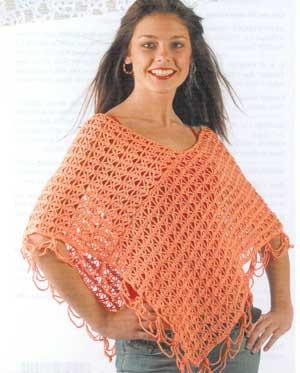 Granny Poncho Crochet Pattern | Red Heart