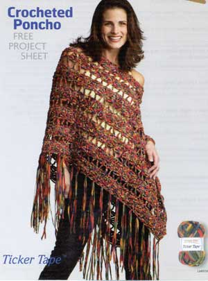 Jillbeth's Easy Crochet Patterns: Little Girls' Poncho Easy